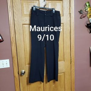 Maurices Black Dress Pants Size 9/10